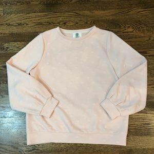 ANTHRO Lili's Closet Blush Dot Pullover—M